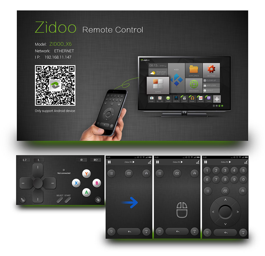 android tv box zidoo x6 pro