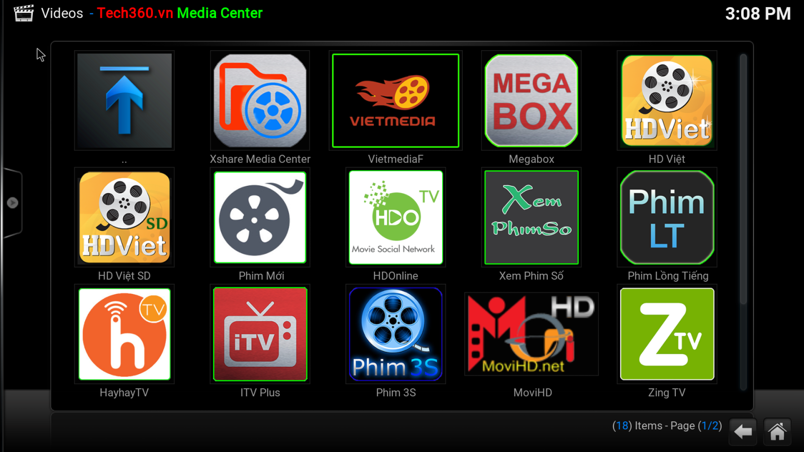 giao diện android tv box