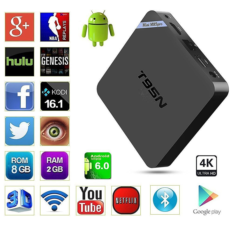 android tv box sunvell t95n mini m8s pro